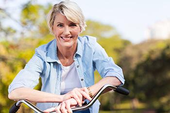 Happy Woman on a Bike